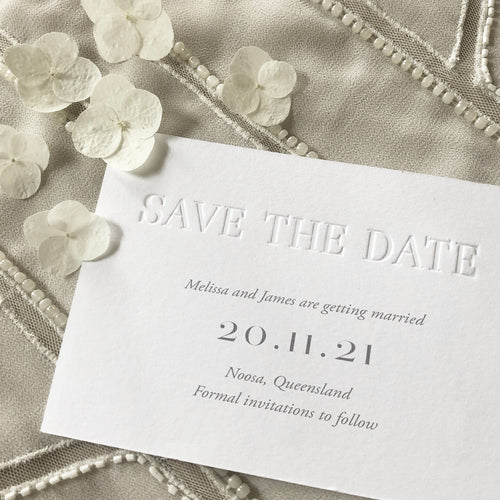 Melissa + James Save the Date