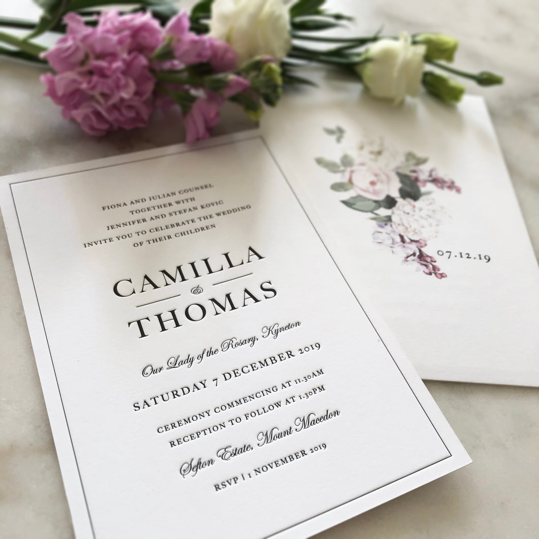 Camilla + Thomas Wedding