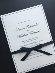 Lauren's Wedding Invitations