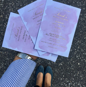 Sarah's Bridal Shower Invitations