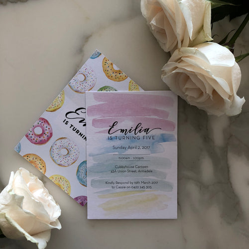 Emilia's Birthday Invitations