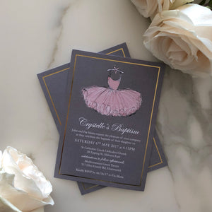 Crystelle's Christening Invitations