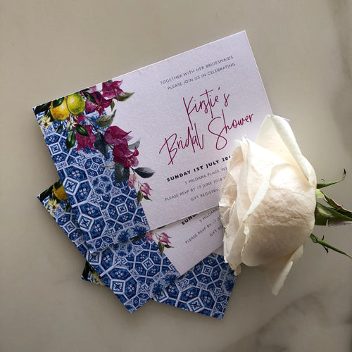 Kirstie's Bridal Shower Invitations