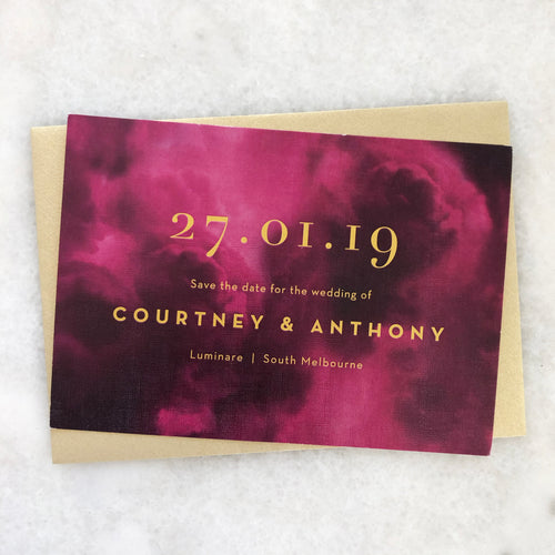 Courtney + Anthony Save The Date
