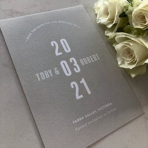 Toby + Robert Save The Date
