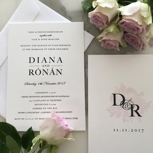 Diana's Wedding Invitations