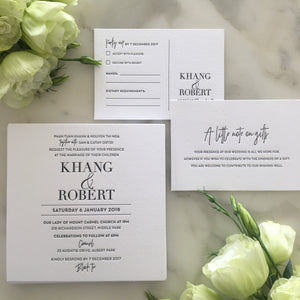 Khang's Wedding Invitaitons