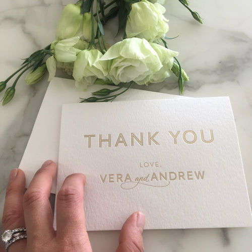 Vera's Thank You Cards