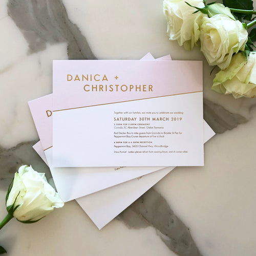 Danica + Christopher's Wedding Invitations