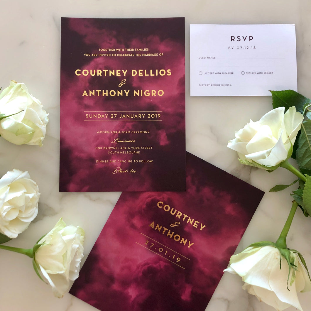Courtney & Anthony's Wedding Invitations