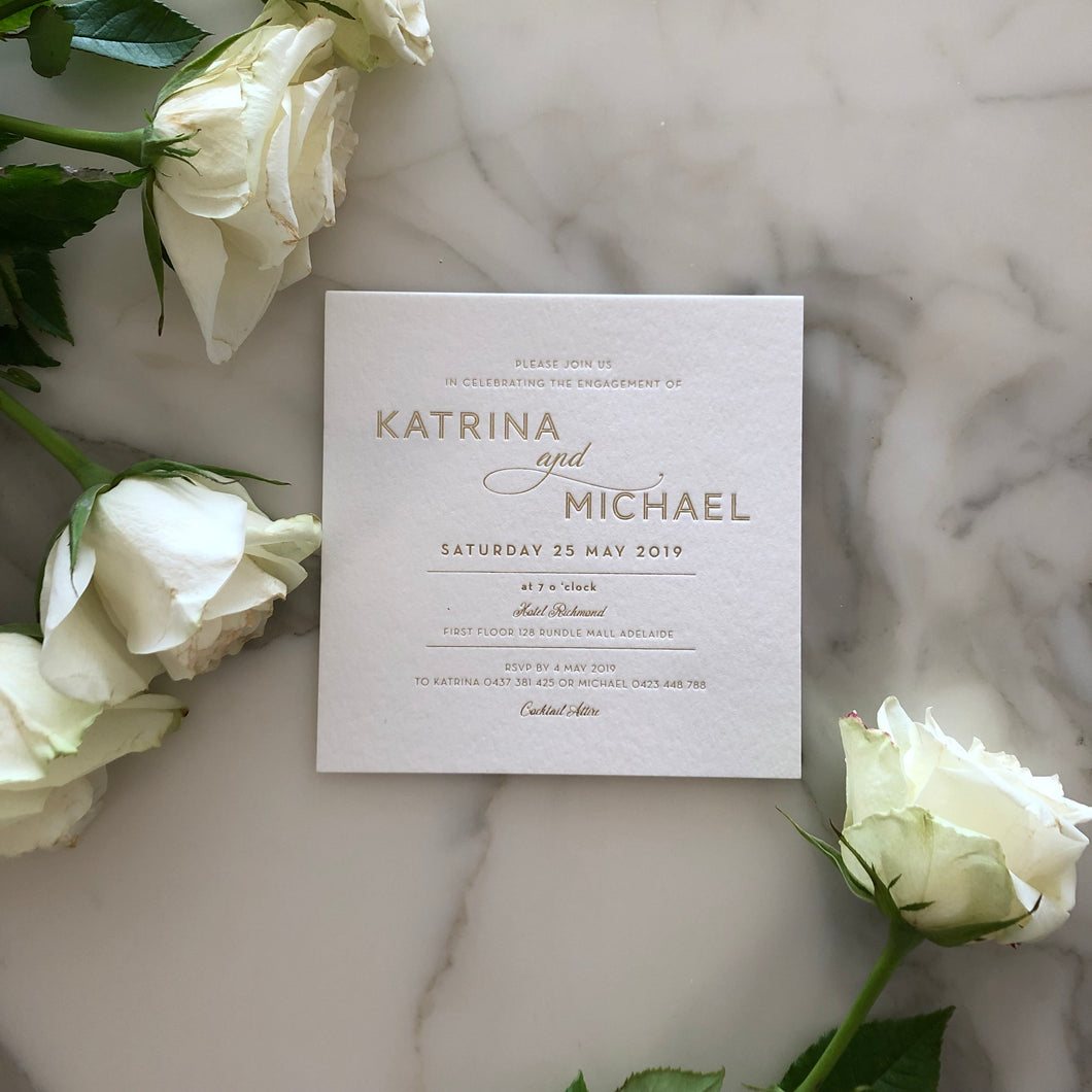 Katrina & Michael's Engagement Invitations