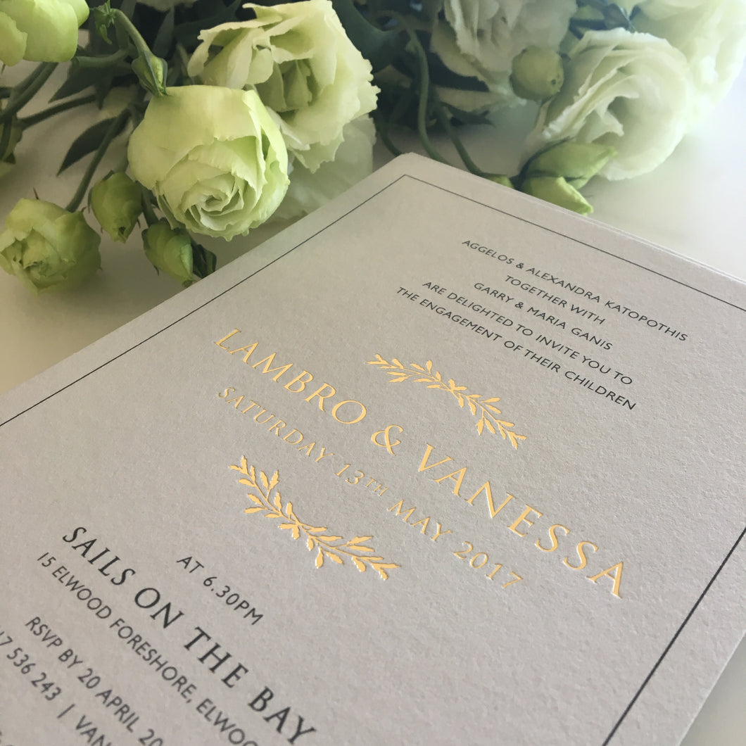 Vanessa's Engagement Invitations