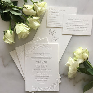 Sarah's Wedding Invitations