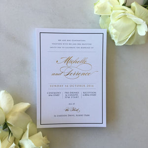 Michelle's Wedding Invitaitons