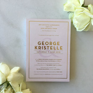 Kristelle's Wedding Invitations