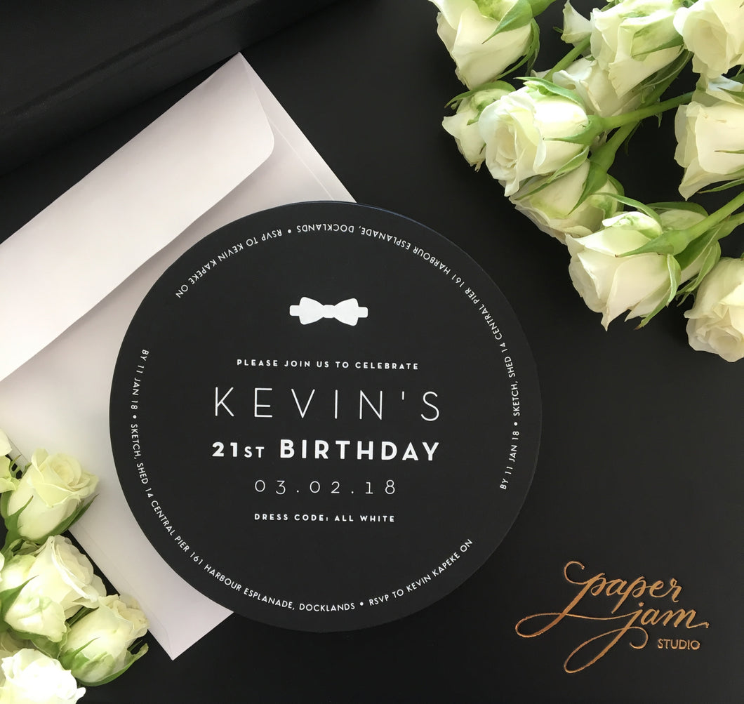 Kevin's Party Invitations
