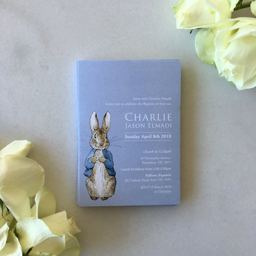 Charlie's Christening Invitations
