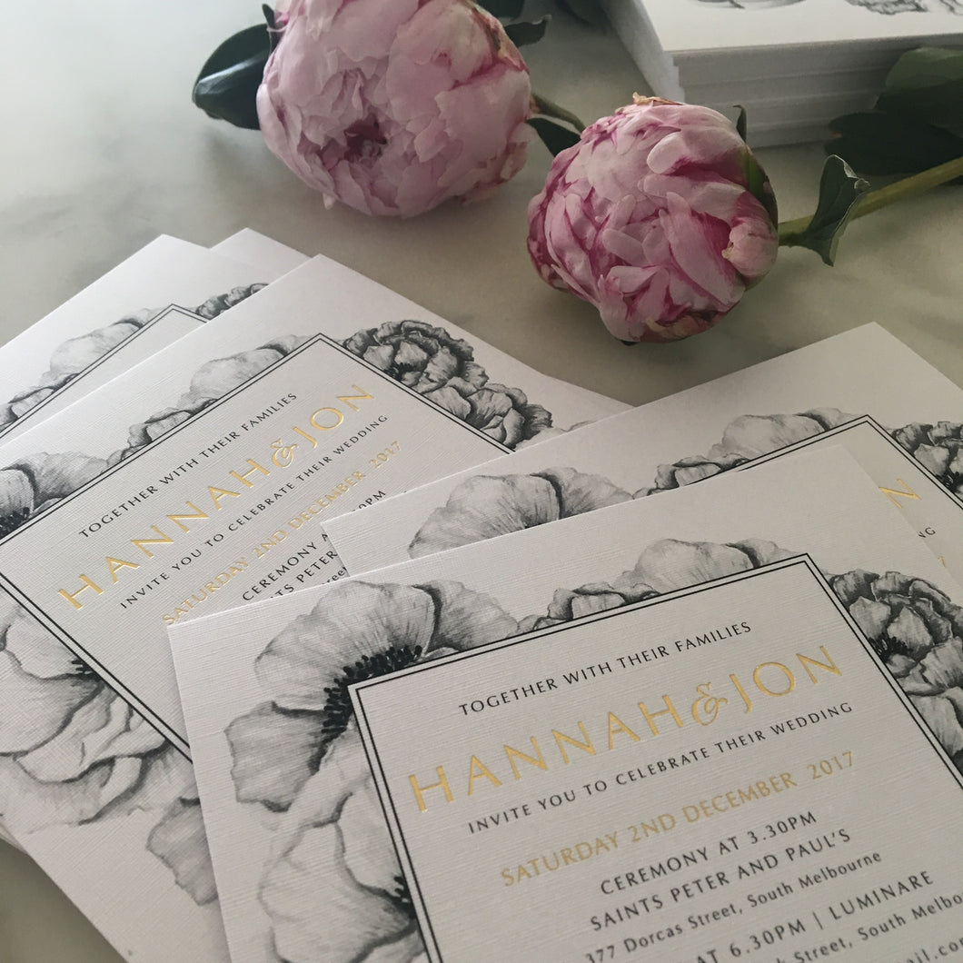 Hannah's Wedding Invitaitons