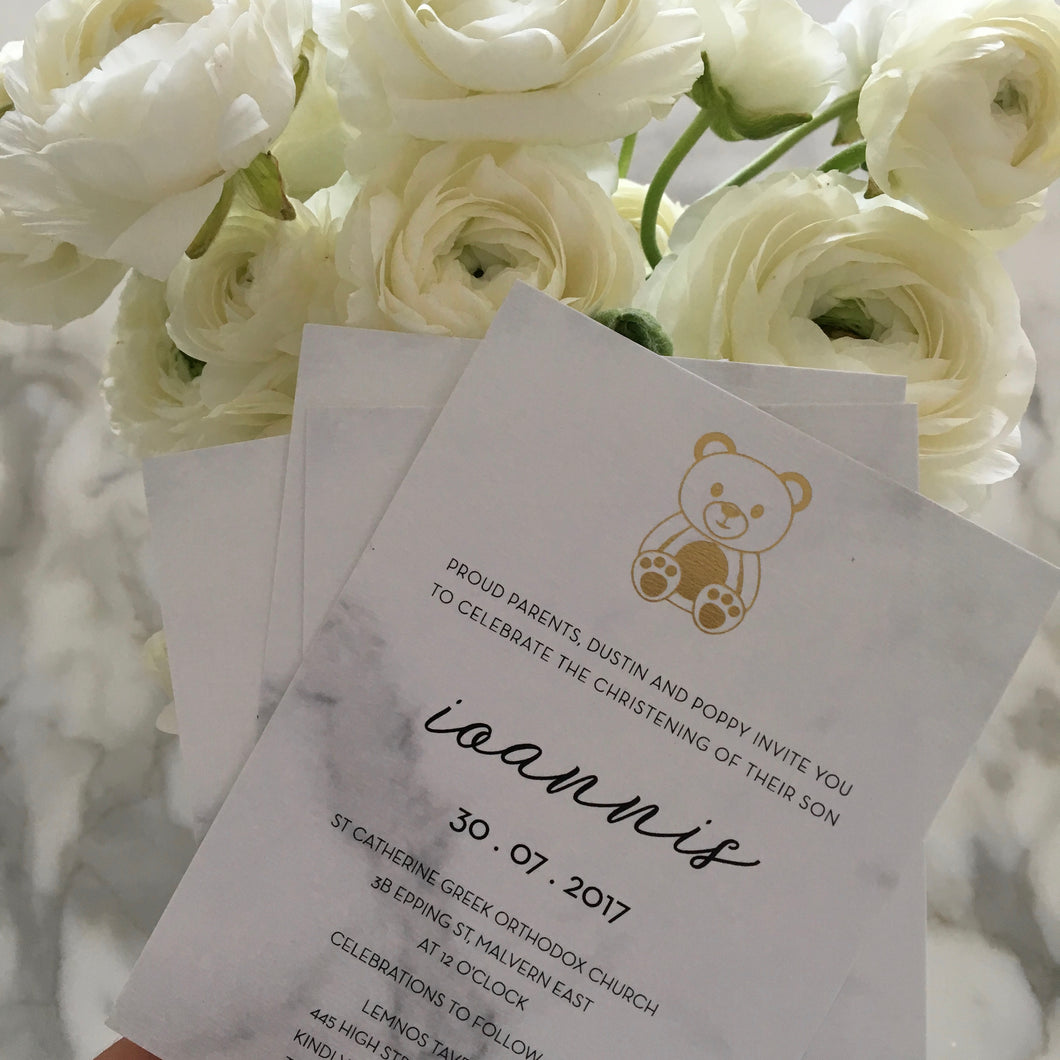 Loannis's Christening Invitations