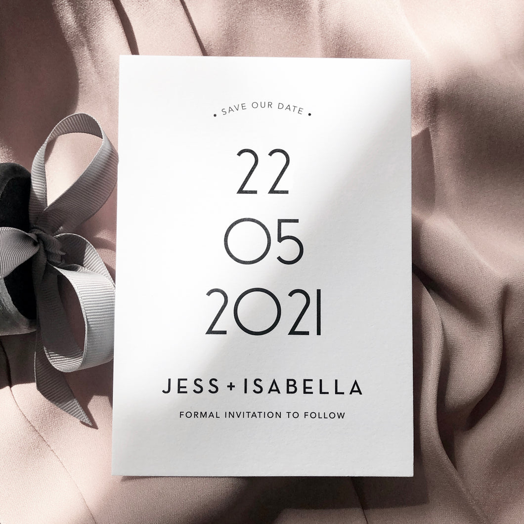 Jess & Isabella Save The Date