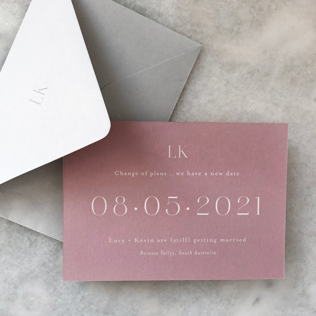 Lucy + Kevin Save The Date Card