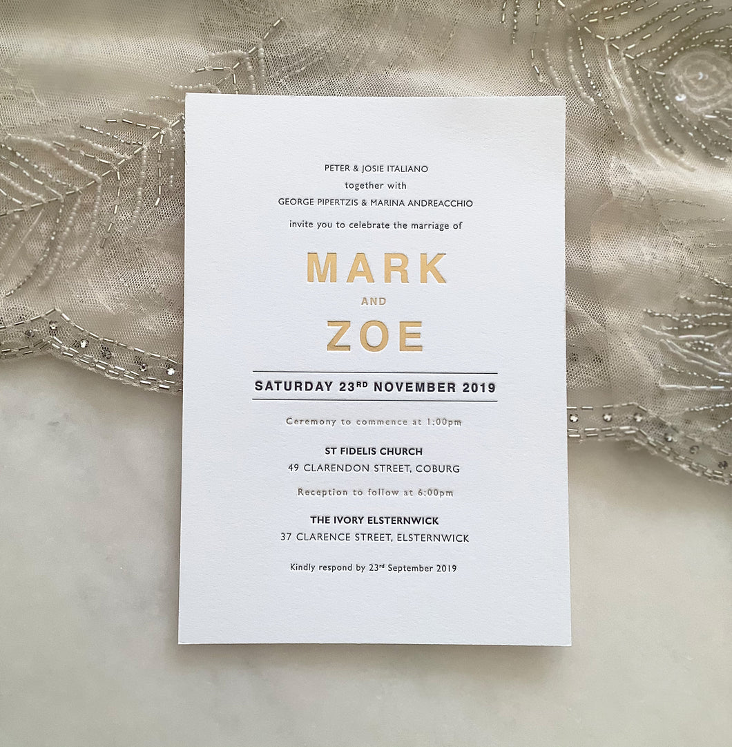 Mark + Zoe's Wedding
