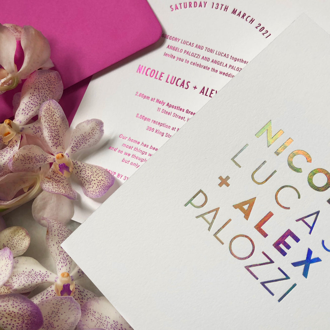 Nicole + Alex Invitation