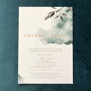 Oksana Engagement Invitations