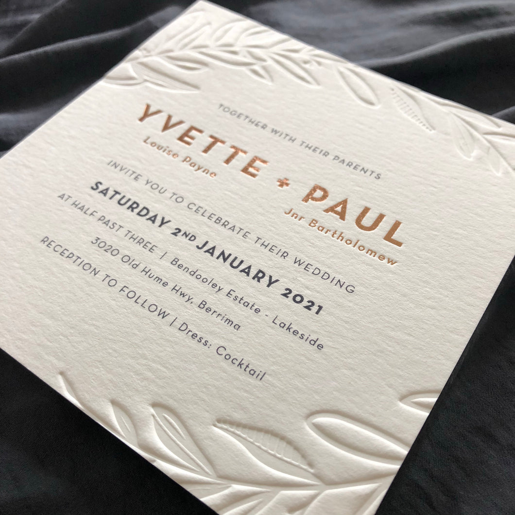 Yvette and PaulWedding Invitation