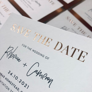 Rebecca + Cameron Save the Date