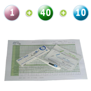 1 Thermomètre digital BBT + 40 tests d'ovulation 20mIU (Bandelettes) + 10 tests précoces de grossesse (10mIU)