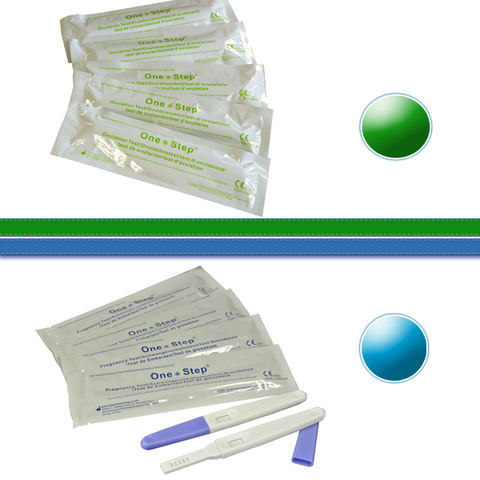 Lot combinaison de tests de grossesse/ovulation - Stylo