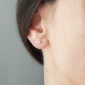 3mm Gold Ball Studs - Evie Atelier