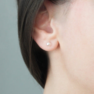 5mm Silver Ball Studs - Evie Atelier