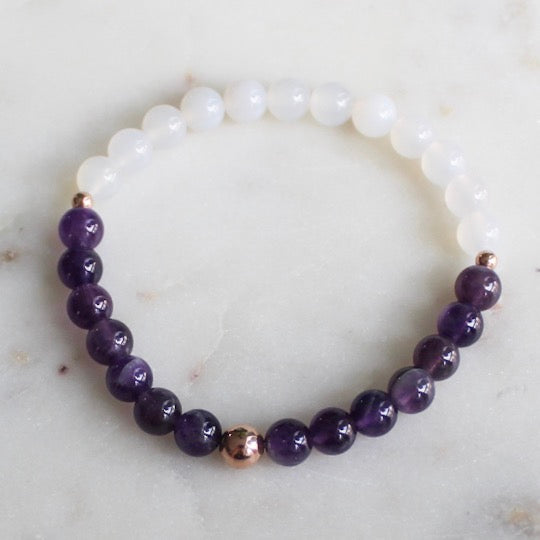 Amethyst & White Agate - Evie Atelier