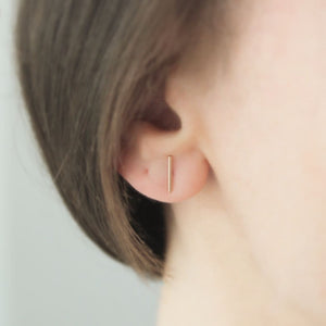 Gold Bar Studs - Evie Atelier