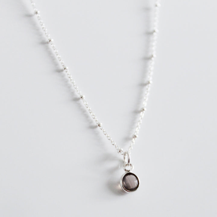 Grey Moonstone Drop Necklace - Evie Atelier