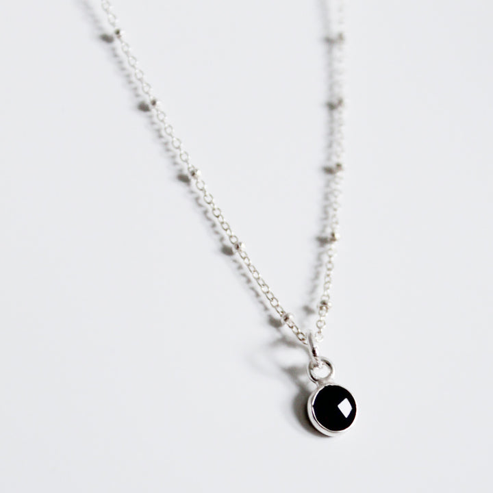 Onyx Drop Necklace - Evie Atelier