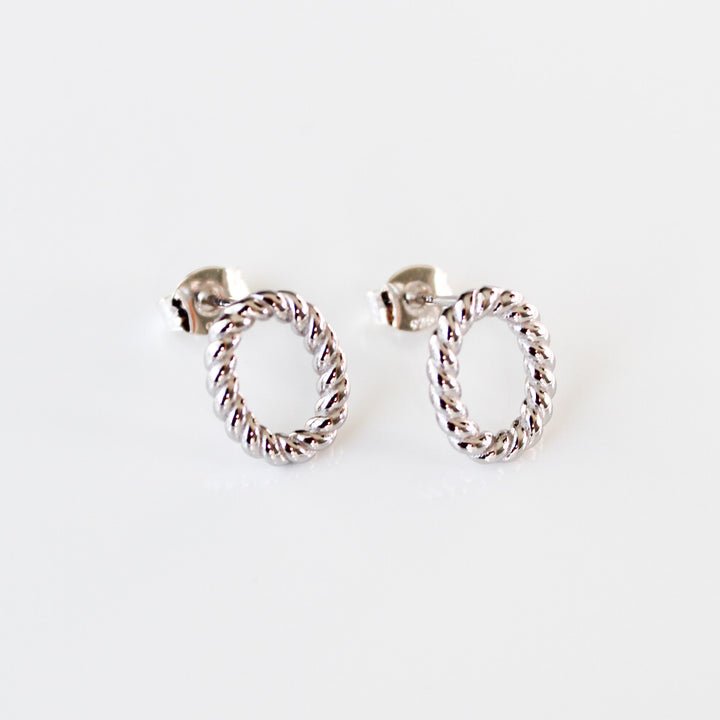 Oval Twist Rope Studs