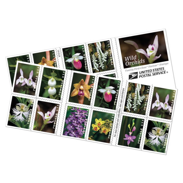 Forever Stamps - Wild Orchids
