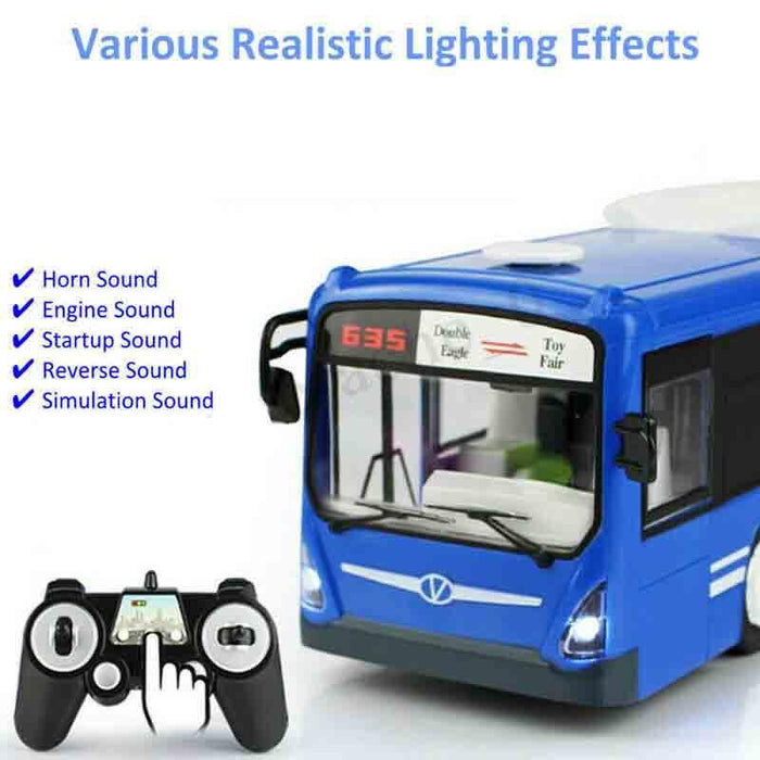 2.4G Remote Control RC Bus with Opening Doors and Realistic Sounds-ZHENDUO