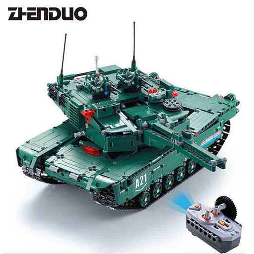 Double Eagle Cada 1:20 C61001 M1A2 RC Tank 2 Models in 1 Building Block Bricks-ZHENDUO