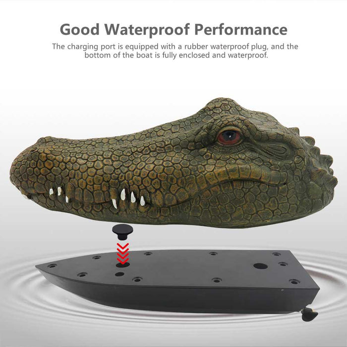 Flytec V002 V005 Simulation Crocodile Head RC Boat Spoof Toy-ZHENDUO