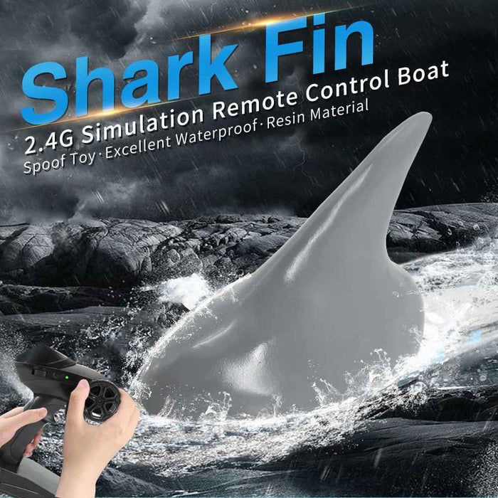 Flytec V302 RC Boat with Simulation Shark Fin Head-ZHENDUO