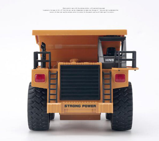 HUINA 540 Metal Dump Truck RC Contruction Vehicle 1/18 2.4G 6 Channels-ZHENDUO