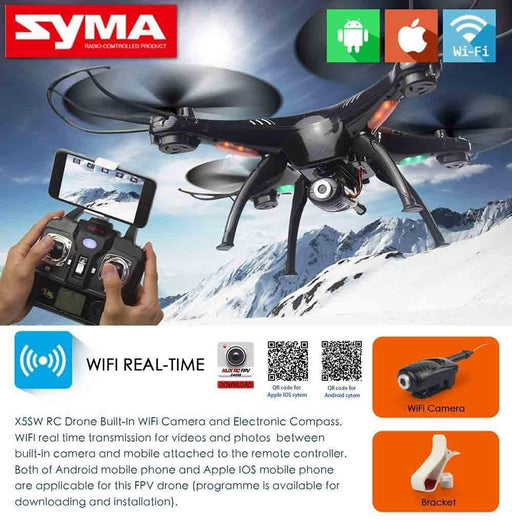 SYMA X5SW Wifi FPV Real Time RC Quadcopter Drone-ZHENDUO