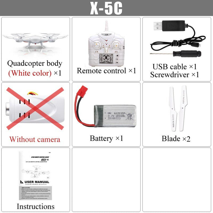 Syma X5C Explorers RC Quadcopter without Camera-ZHENDUO