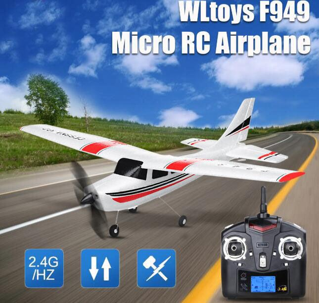 WLtoys F949 3CH 2.4G Cessna 182 Micro RC Airplane-ZHENDUO