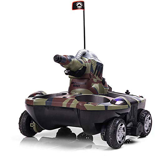 YED 24883A 4WD RC Amphibious Tank with Water Cannon-ZHENDUO