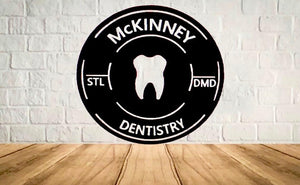 Personalized Dentist Sign Round